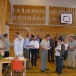 Publikum under Hesjevoll-utstillinga