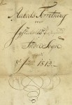 Åbotsforretning Jostedal prestegard 1813