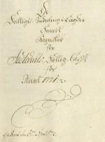 Framsida på fattigrekneskapen for 1771, sendt til overfattigtilsynet i Bergen