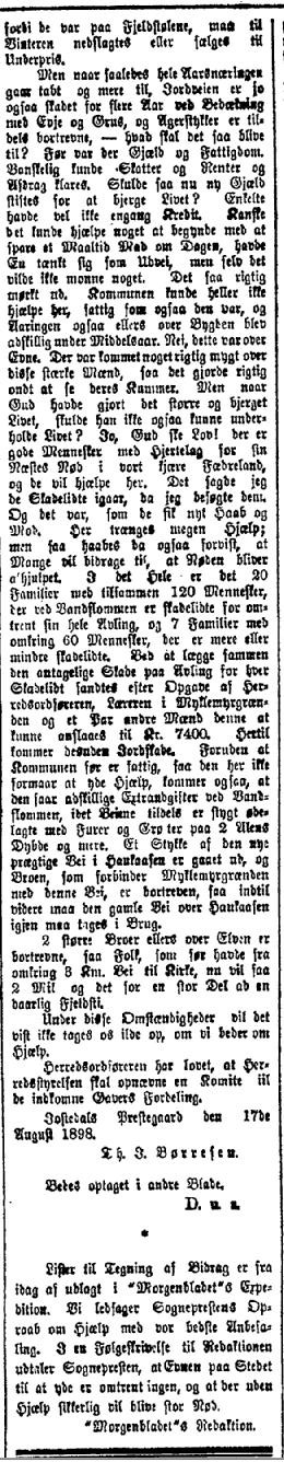 Morgenbladet 24. august 1898, spalte 2