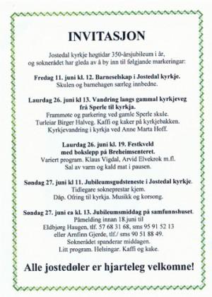 Program for kyrkjejubileet