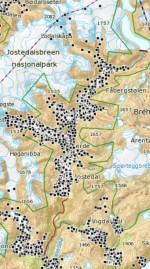 Juli 2015: Namna mellom Fossøyane og Leirmo manglar, men elles er det meste på plass.